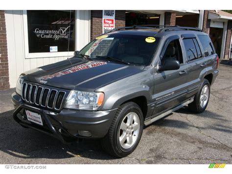 dark gray jeep cherokee 2003 graphite metallic jeep grand cherokee overland 4x4