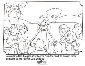 Sermon On Blind Bartimaeus Jesus Appears To His Disciples Bible Coloring Pages
