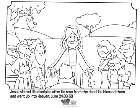 Jesus Appears To His Disciples Bible Coloring Pages
