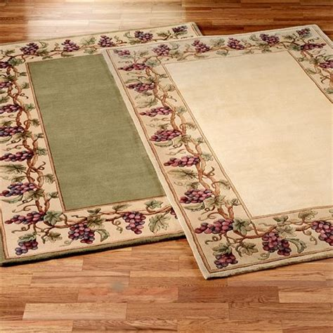 grape kitchen rugs grapes napa border area rugs