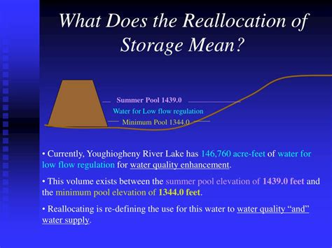 what does water mean ppt youghiogheny river lake storage reallocation for
