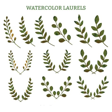 Decorative Wreaths For Home by Watercolor Laurels Green Decorative Vector Free Download
