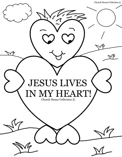 sunday school coloring pages on love sunday school coloring pages lives in my heart