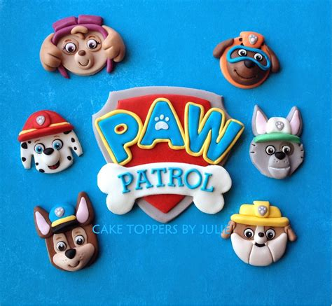Paw Patrol Cake Decorations by Custom Cakes By Julie