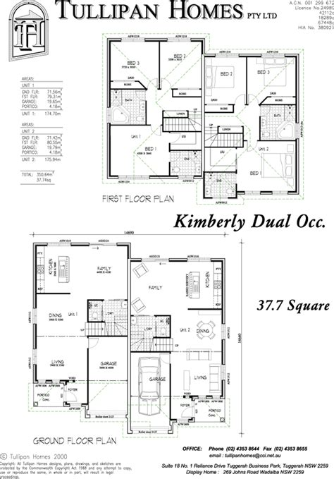 dual occupancy house plans kimberly dual occupancy home design tullipan homes