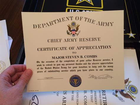 operation provide comfort awards army certificate of appreciation education awards