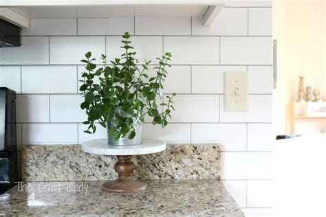 temporary tile backsplash white subway tile temporary backsplash the tutorial the craft
