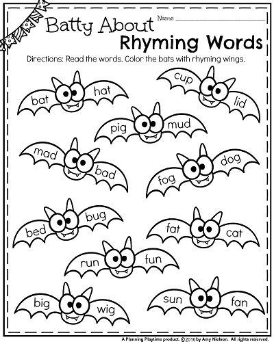 words that rhyme with colors best 25 rhyming kindergarten ideas on free