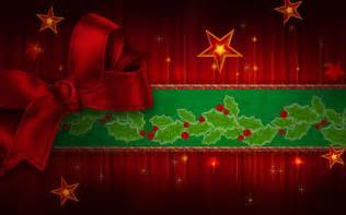 Free christmas red ribbon backgrounds for powerpoint abstract and