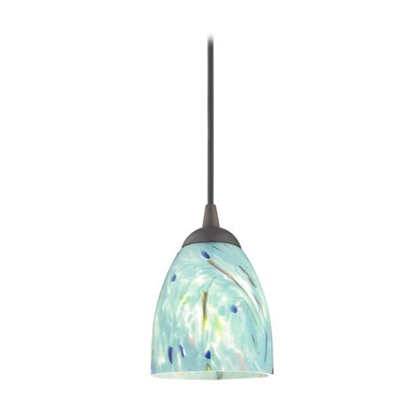 Turquoise Pendant Light Bronze Mini Pendant Light With Turquoise Glass 582 220 Gl1021mb Destination Lighting
