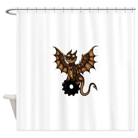 dragon curtains steunk dragon shower curtain by pezicreation