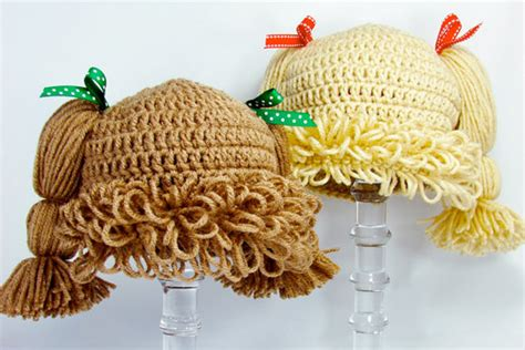 crochet inspired cabbage patch hat with video cabbage patch kids wigs mum s grapevine