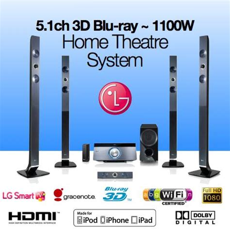 lg 5 1 3d bluray dvd home theatre system speaker