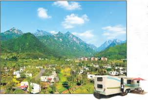 part   huangshan tuju campsite   caravans