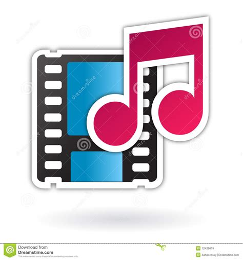 clips music audio video media file icon royalty free stock images
