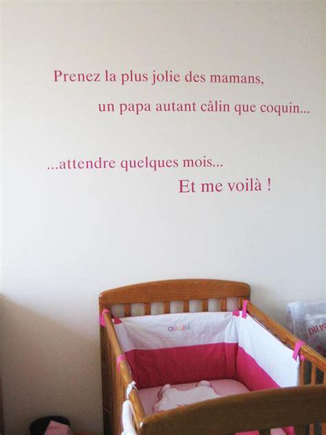 stickers phrase chambre bébé sticker phrase pour chambre de b 233 b 233 192 d 233 couvrir