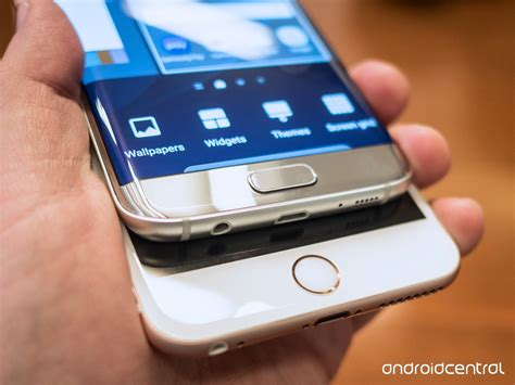 galaxy s7 edge and iphone 6s plus a look android central