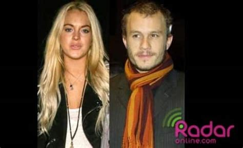 Lindsay And Heath Hollywoods Hook Up by Dina Lohan Blames Lindsay S Downfall On Heath Ledger Dying
