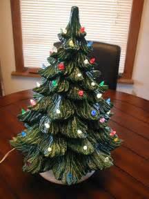 vintage ceramic tree with lights vintage ceramic 18 light up tree nm nowell