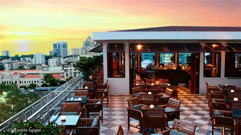 best roof top bars saigon saigon rooftop bar at caravelle hotel historic
