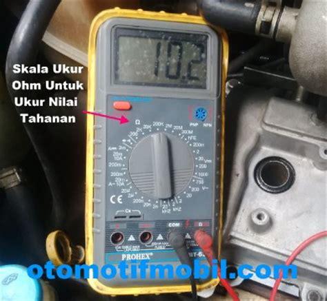 Berapa Multitester cara mengukur kabel busi dengan avometer digital otomotif mobil