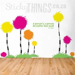 Dr Seuss Wall Murals dr seuss wall art decal truffula trees by stickythings co za