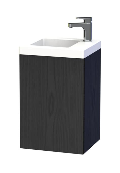 miller bathroom furniture miller new york 40 black wall hung basin vanity unit with