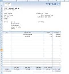 Invoice Statement Template Free Blank Billing Statement Forms Bing Images