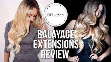 hair extensions ta bellami balayage tang extensions review