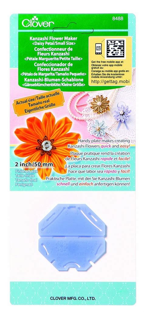 clover kanzashi flower maker craft template select your