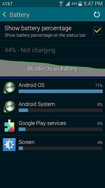 android os using battery android os using large percentage of battery on galaxy s5 android forums at androidcentral