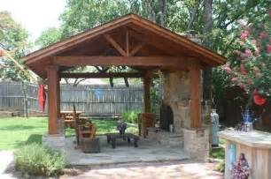 Patio Covers With Fireplace Free Standing Covered Patio With Outdoor Fireplace