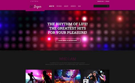 dj themes songs dj responsive wordpress theme 54790