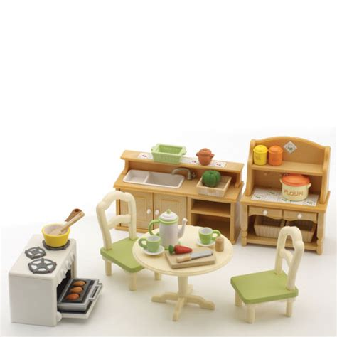 sylvanian country kitchen sylvanian families country kitchen set toys thehut