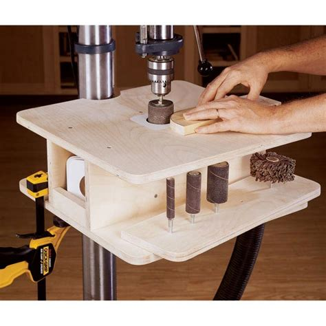 drill press table woodworking plans drill press drum sanding table woodworking plan from wood