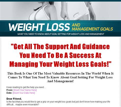 weight management goals weight loss and management goals plr ebook