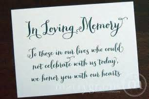 in loving memory quotes for weddings quotesgram