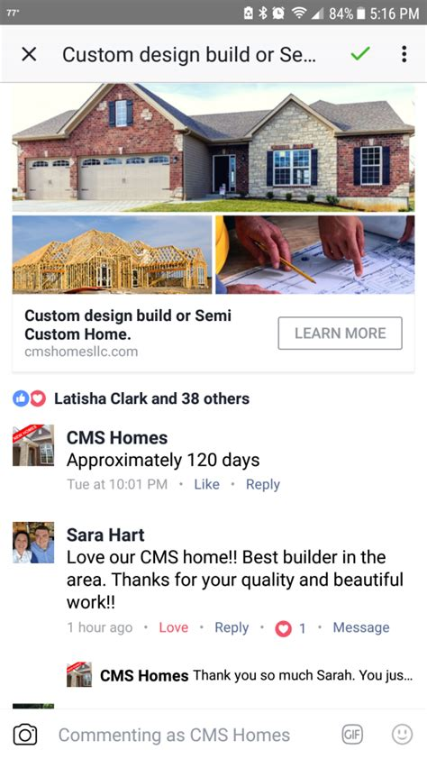 what our customers are saying cms homes