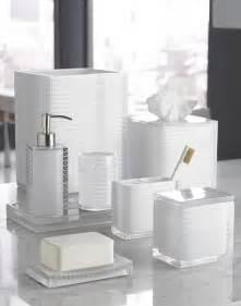 Houzz Bathroom Accessories Kassatex Quot Mar A Lago Stripe White Quot Resin Bathroom Accessories Bathroom Accessories By