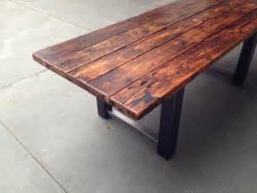 Reclaimed Wood Kitchen Tables Reclaimed Wood And Metal Dining Table Modern Dining Tables Other Metro By The Coastal
