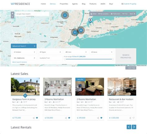 50 top real estate wordpress themes templates of 2016