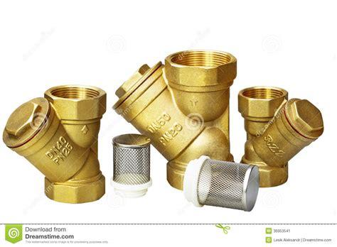 Plumbing Fixture Parts plumbing fixtures and piping parts stock image image