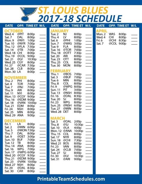 printable blue jackets schedule 2018 printable columbus blue jackets schedule autos post