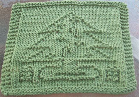 free knitted dishcloth patterns digknitty designs decorated tree knit dishcloth