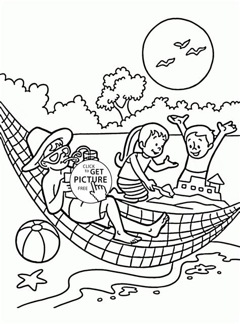 exciting graphic variety of summer vacation coloring pages
