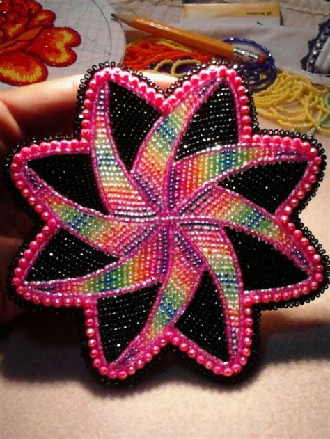 beadwork ideas beaded medallion by lennis denny beadwork