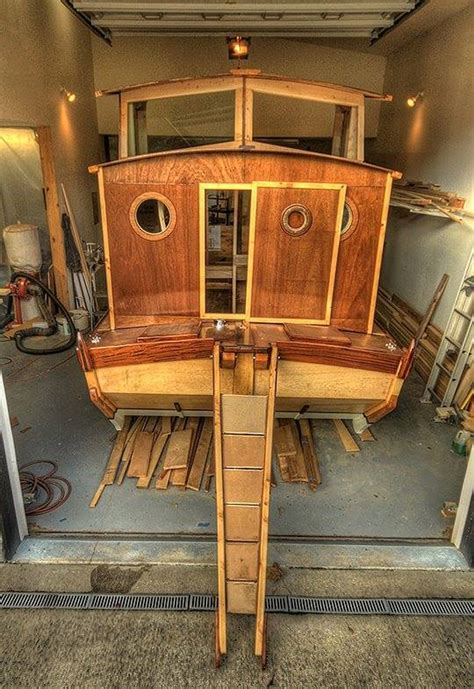 remodel runabout boat homemade houseboat work of art shantyboatliving