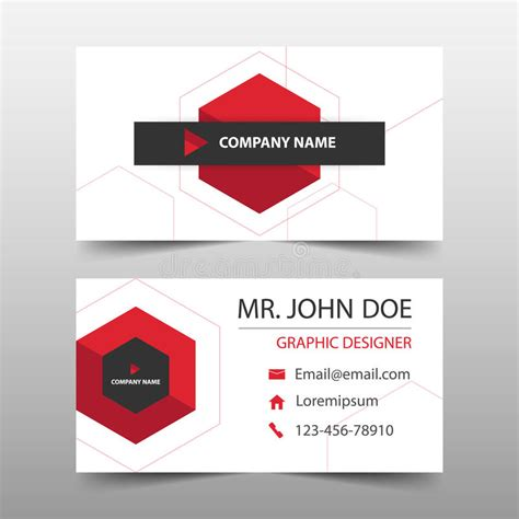 hexgonal card template hexagon corporate business card name card template