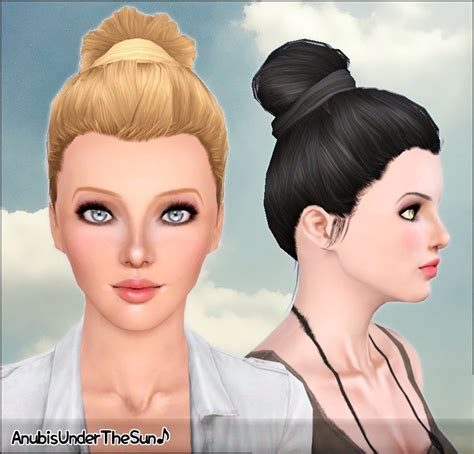 bow eye hair accessory at jenni sims 187 sims 4 updates anubis under the sun sunday morning bun hairstyle