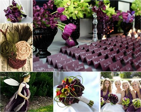 wedding inspiration eggplant and olive decor